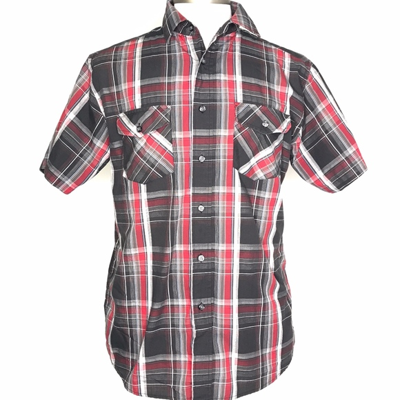 Beverly Hills Polo Club Other - Beverly Hills Polo Club Black Plaid Shirt A080538